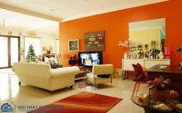 Cách phối màu sơn phòng khách hiện đại