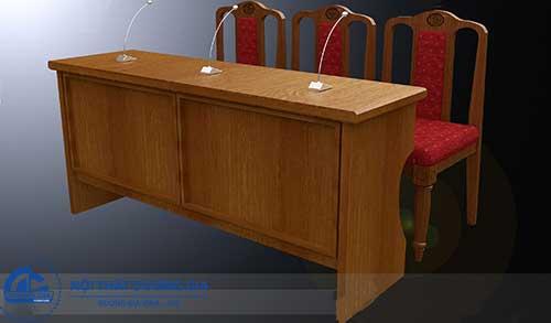 Nhược điểm của bàn ghế hội trường gỗ tự nhiên