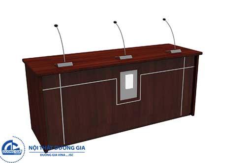 Bàn hội trường sử dụng chất liệu gỗ công nghiệp BHTDG4