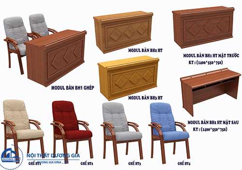 Giá bàn ghế hội trường chịu sự chi phối của kích thước