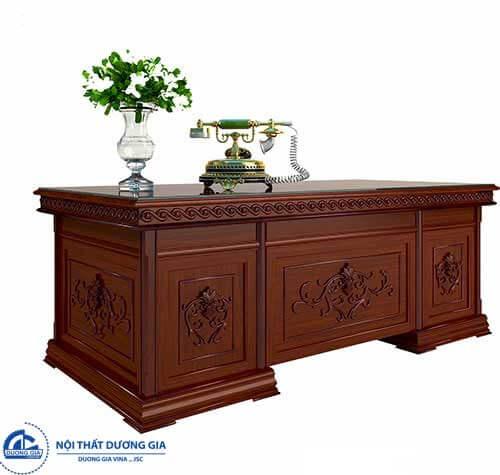 Mẫu bàn giám đốc gỗ hương