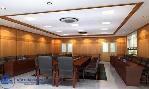 Hệ thống âm thanh, ánh sáng trong thiết kế nội thất phòng họp đẹp