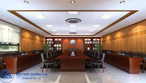 Chú ý đến vật dụng trang trí để tạo nên mẫu thiết kế phòng họp đẹp