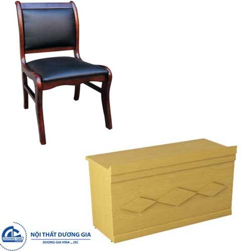 Mẫu bàn ghế hội trường Hòa Phát BHT12DV2+GHT05