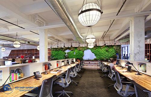 Báo giá thiết kế văn phòng tác động bởi chất liệu nội thất