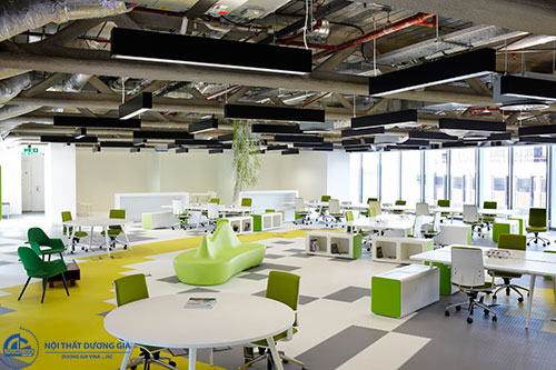 Thiết kế nội thất văn phòng làm việc theo hướng mở