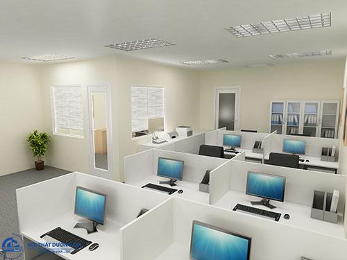 Đơn vị thiết kế văn phòng làm việc 60m2 chuyên nghiệp tại Hà Nội