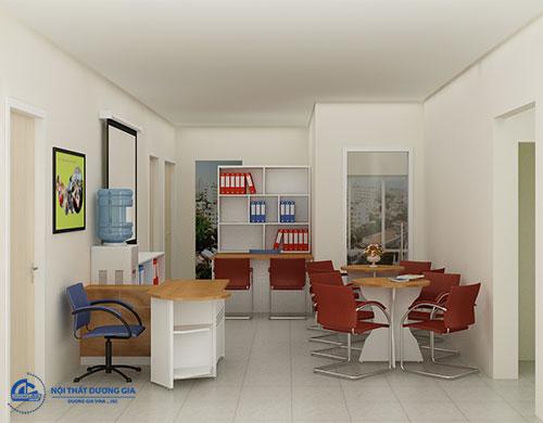 Thiết kế phòng làm việc 60m2 thống nhất về phong cách