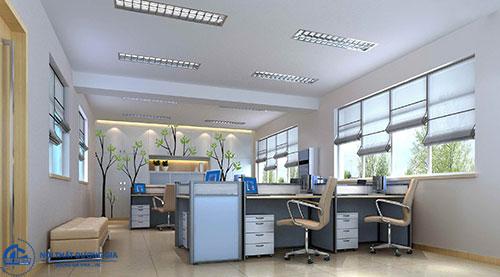 Đảm bảo sự tiện nghi và khoa học khi thiết kế văn phòng làm việc rộng 60m2