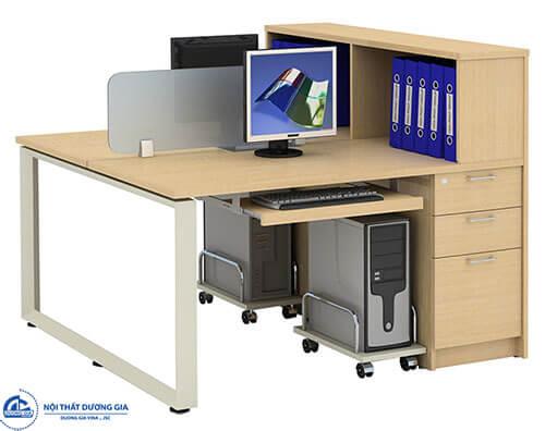 Bàn văn phòng có vách ngăn 2 chỗ ngồi HRMD09