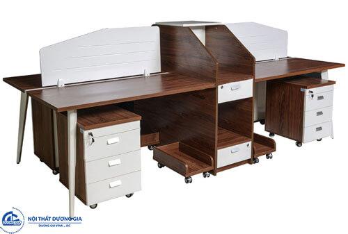 Module bàn làm việc 4 chỗ ngồiLUXMD02C10