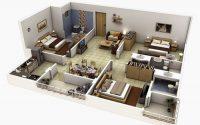 Bảng giá thiết kế nội thất chung cư 3 phòng ngủ phụ thuộc vào đâu?