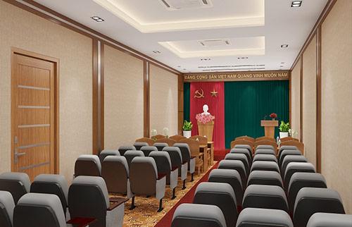 Kích thước ghế hội trường phù hợp giúp tăng giá trị thẩm mỹ không gian