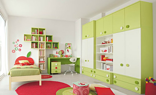Bố trí nội thất phòng ngủ trẻ em hiện đại