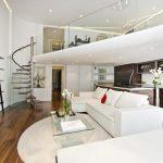 Thiết kế nội thất phòng khách có gác lửng cần phải chú ý tới điều gì?
