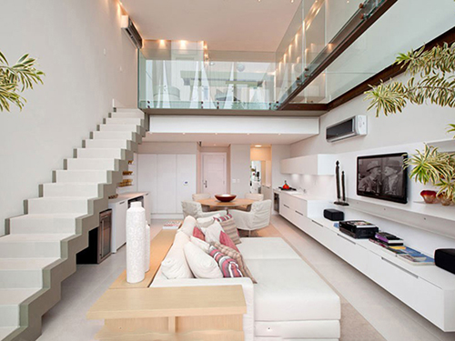 Những điều cần lưu ý khi thiết kế nội thất phòng khách có gác lửng